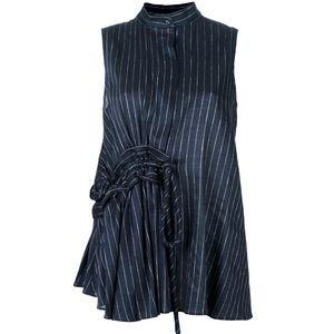 Victoria Beckham Pinstripe LINEN Sleeveless Blouse